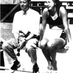 WAC Swim Coach, Ray Daughters and Olympic swimmer, Helene Madison