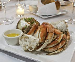 A delicious plate of crab.
