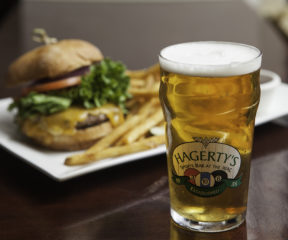 A beer and burger at Hagerty's