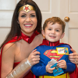 Wonder Woman mom and Superman son