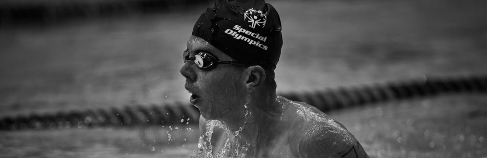 Special Olympics swimmer