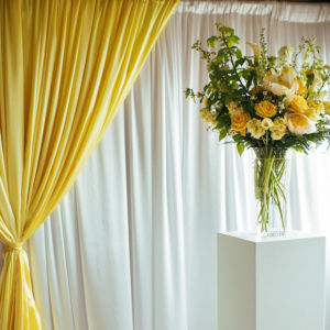 Detail of room set up for a wedding